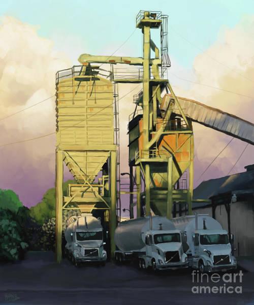 Semi-truck Digital Art - The Old Town Mill by Michael Hopper
