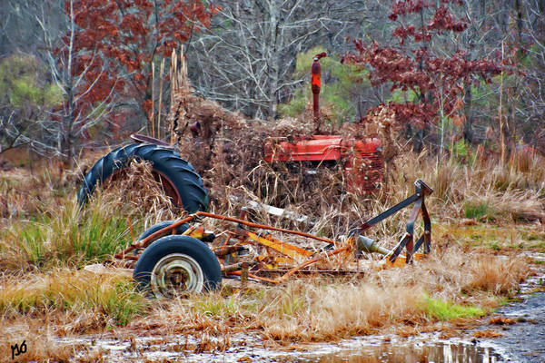 Photograph - The Old Tractor by Gina O'Brien