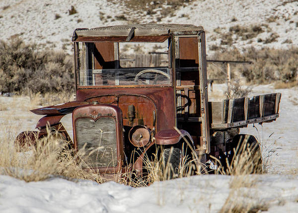 Bannack Wall Art - Photograph - The Old Truck by Teresa Wilson