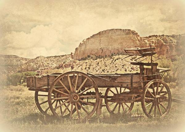 Wall Art - Photograph - The Old Wagon At Ghost Ranch by Toni Abdnour
