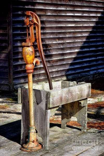 Trough Wall Art - Photograph - The Old Water Pump by Olivier Le Queinec