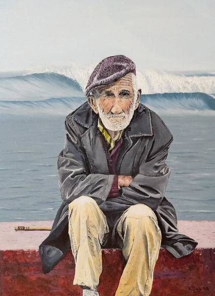 Painting - The Old Waterman by Kevin Daly