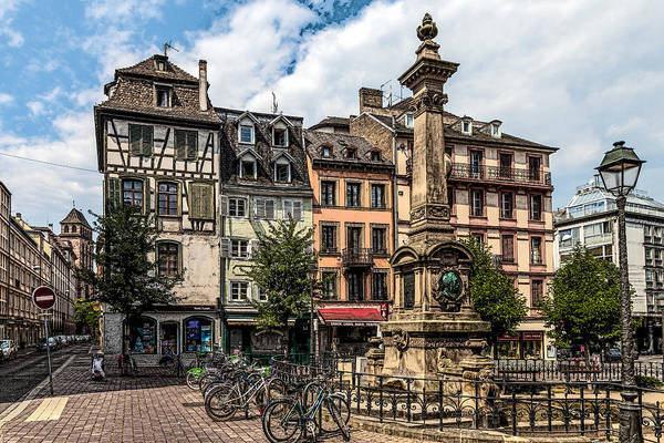 Alsace Wall Art - Photograph - The Old Wine Market In Strasbourg by W Chris Fooshee