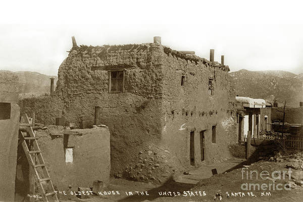 Photograph - The Oldest House, Santa Fe In The United States by California Views Archives Mr Pat Hathaway Archives