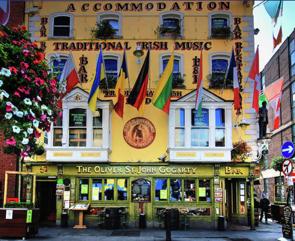 Temple Bar Wall Art - Photograph - The Oliver St John Goarty Bar Dublin by Tom Prendergast