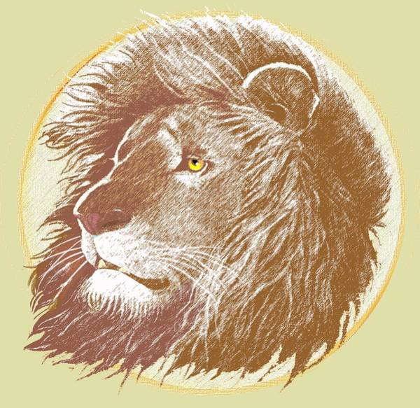 Lion Mixed Media - The One True King by J L Meadows