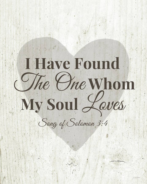 Bedroom Decor Wall Art - Digital Art - The One Whom My Sould Loves- Art By Linda Woods by Linda Woods