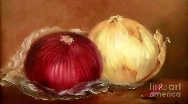 Wall Art - Painting - The Onions by Patricia Lang
