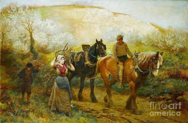 Alpine Meadow Painting - the Only Pretty Ring Time by Celestial Images