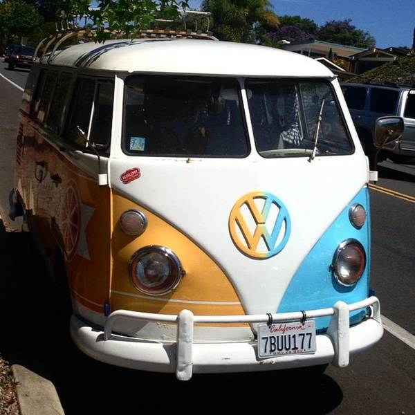 Microbus Photograph - The Only Thing That Makes A Beach Day by Caroline B