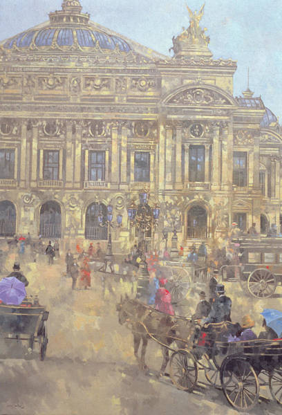 Traffic Painting - The Opera  Paris by Peter Miller