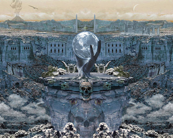 Gargoyle Digital Art - The Oracle Of Halja by Bill Jonas