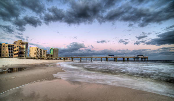 Wall Art - Photograph - The Orange Beach Skyline by JC Findley