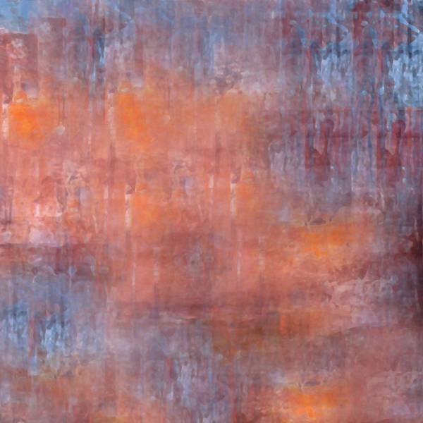 Art Print featuring the digital art The Orange Fog by Mihaela Stancu