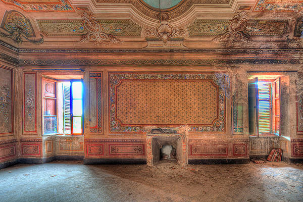 Photograph - The Orange Room Of The Villa With The Colored Rooms by Enrico Pelos