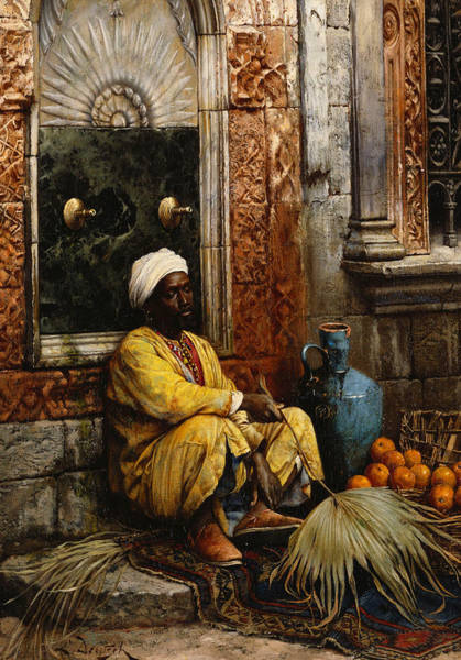 Trader Painting - The Orange Seller by Ludwig Deutsch