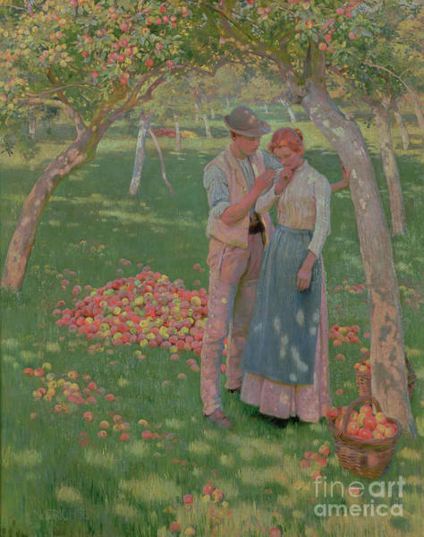 Girlfriend Painting - The Orchard by Nelly Erichsen
