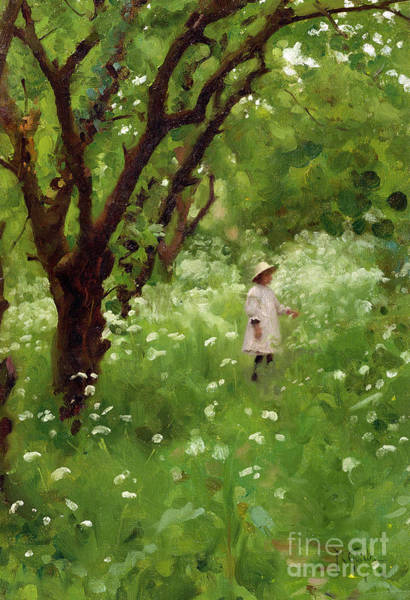 Apple Orchard Painting - The Orchard  by Thomas Cooper Gotch
