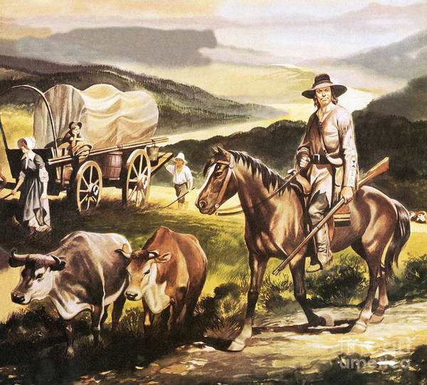 Migration Painting - The Oregon Trail by Ron Embleton