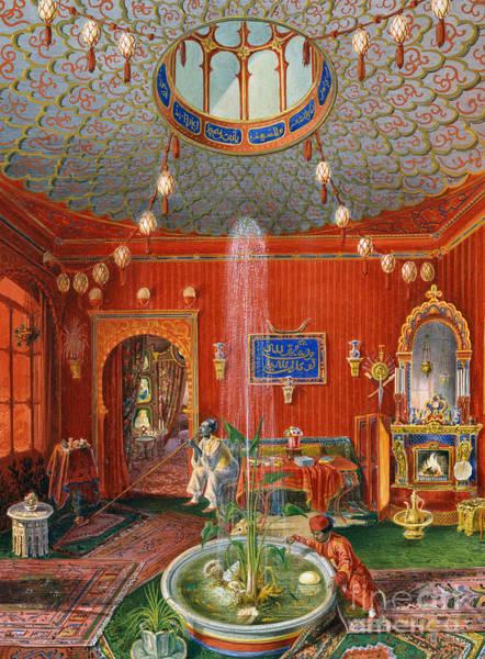 Wishing Well Painting - The Oriental Room In Villa Lazarovich, Trieste Residence Of Maximilian Of Habsburg by German School