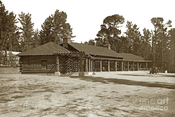 Photograph - The Original Log Lodge Pebble Beach  Circa 1911 by California Views Archives Mr Pat Hathaway Archives