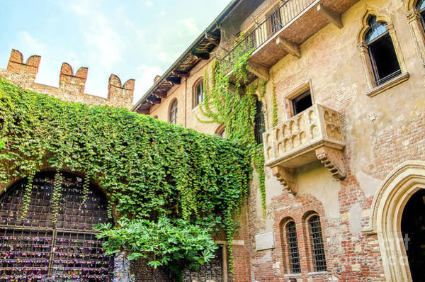 Photograph - The Original Romeo And Juliet Balcony Located In Verona, Italy by Luca Lorenzelli