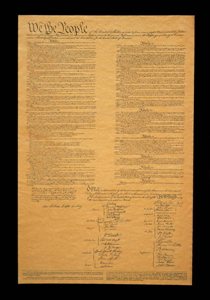 Us Capitol Photograph - The Original United States Constitution by Panoramic Images