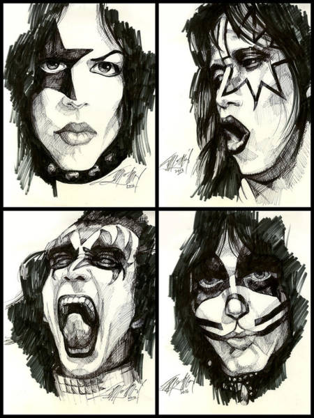 Peter Criss Wall Art - Drawing - The Originals by James Simon