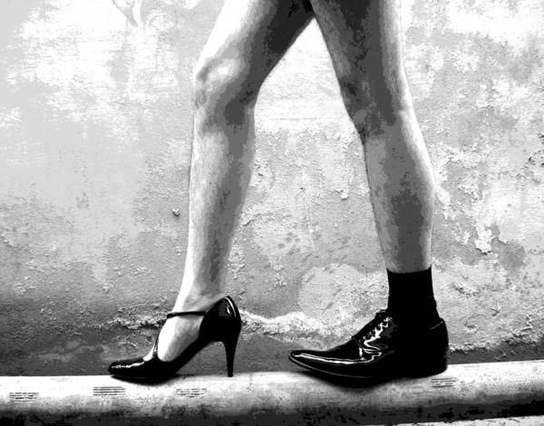 Bisexual Photograph - The Other Shoe 2 by Sumit Mehndiratta