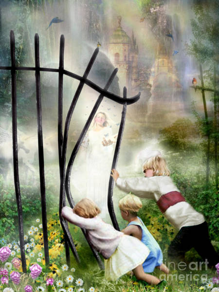 Wall Art - Painting - The Other Side Of The Fence by Carrie Jackson