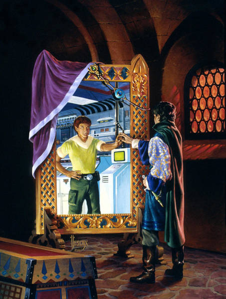 Summoning Painting - The Other Side Of The Mirror by Richard Hescox