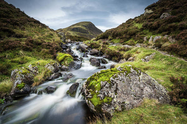 Southern Uplands Wall Art - Photograph - The Outflow From Loch Skeen On Tail Burn Above The Grey Mares Ta by George Robertson