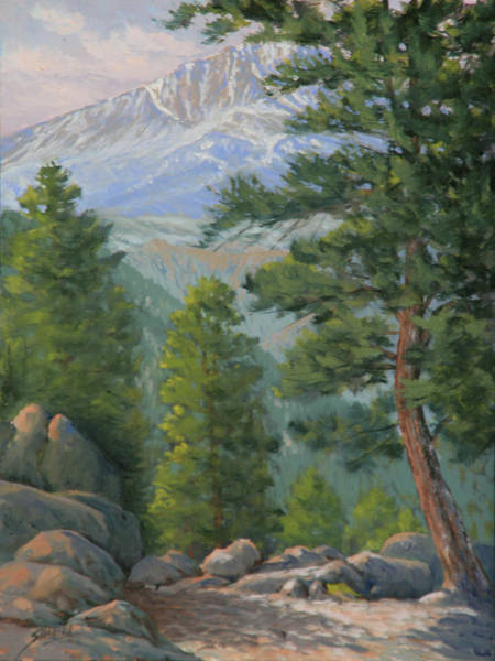 Pikes Peak Painting - The Overtlook 110607-129 by Kenneth Shanika