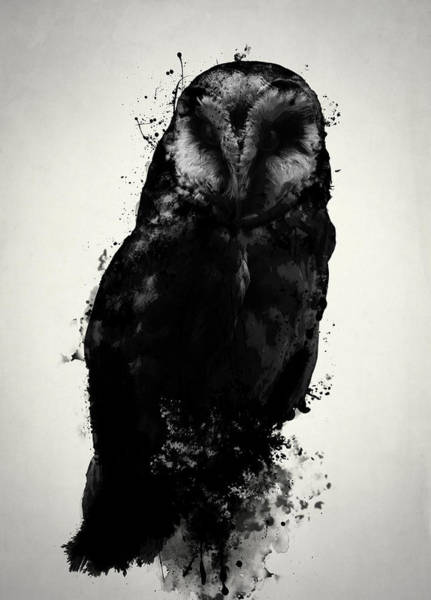 Spatter Mixed Media - The Owl by Nicklas Gustafsson