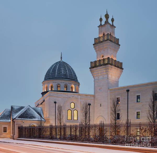 Wall Art - Photograph - The Oxford Centre For Islamic Studies In The Snow by Tim Gainey