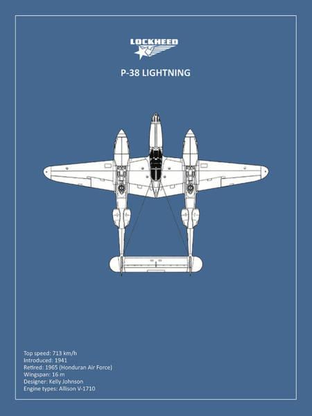 Wall Art - Photograph - The P-38 Lightning by Mark Rogan