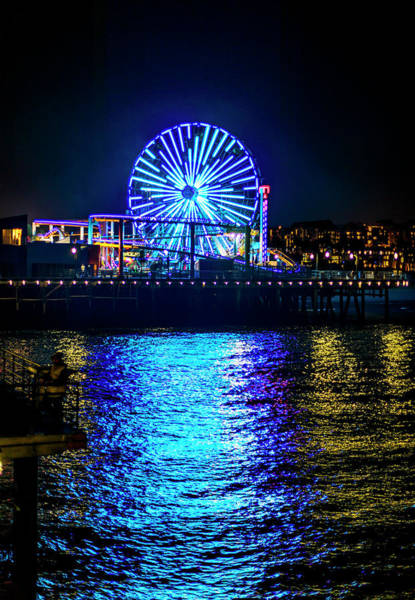 Photograph - The Pacific Wheel In Blue by Gene Parks