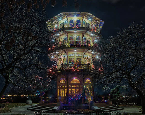 The Pagoda At Christmas Art Print