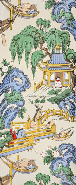 Decorative Drawing - The Pagoda by Harry Wearne