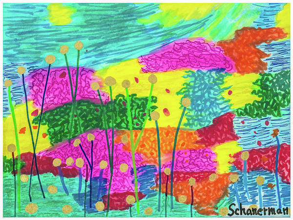 Drawing - The Painted Desert Redux by Susan Schanerman