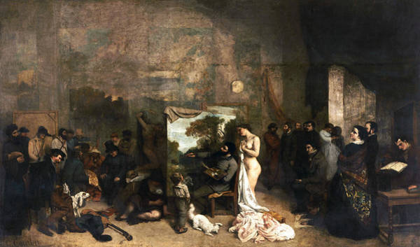 Painting - The Painter's Atelier by Gustave Courbet