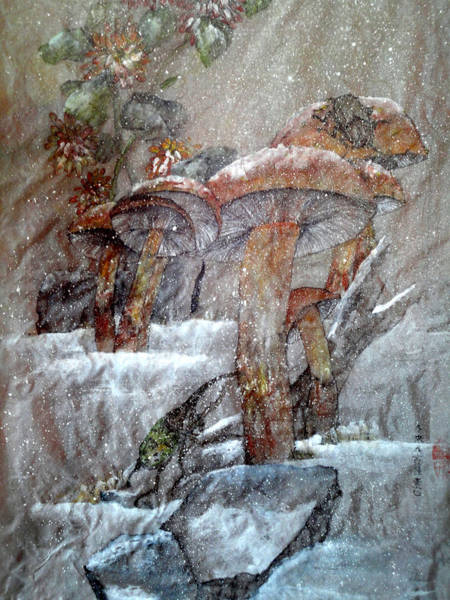 Funghi Painting - The Painting That Stole My Heart by Debbi Saccomanno Chan
