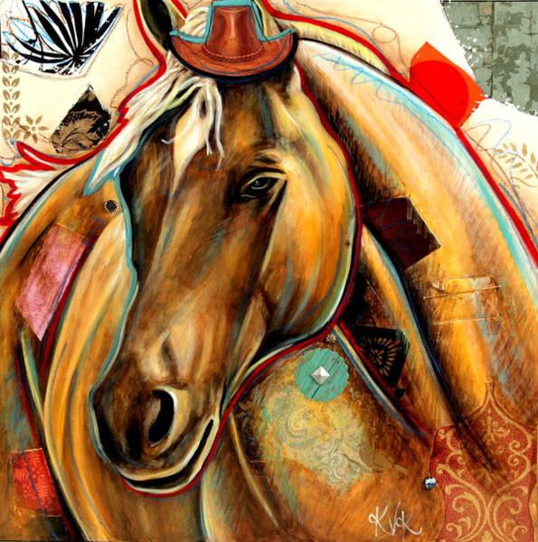 Palomino Horse Mixed Media - The Palomino by Katia Von Kral