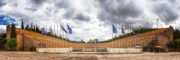 Athens Marathon Wall Art - Photograph - The Panathenaic Stadium - A Marble Miracle - Athens, Greece by Nico Trinkhaus