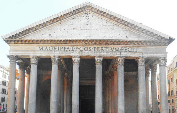 Museum Digital Art - The Pantheon Rome Italy by Irina Sztukowski