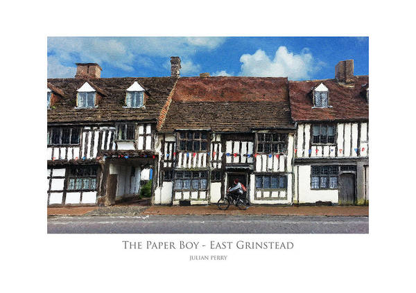 The Paper Boy - East Grinstead Art Print