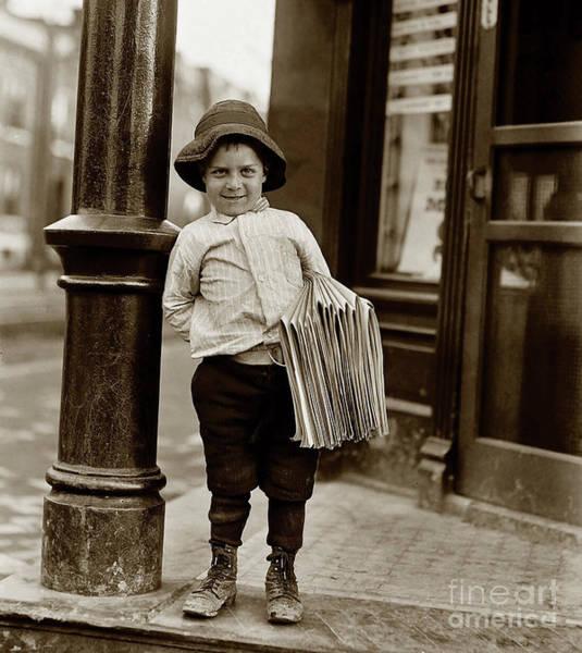 Flapper Photograph - The Paper Boy  by Jon Neidert