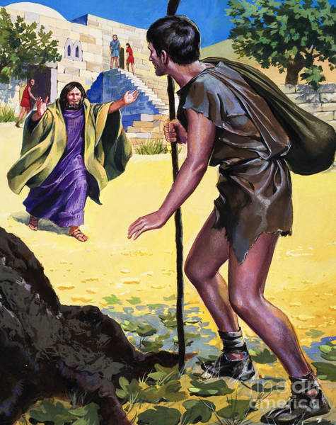 Tender Moment Wall Art - Painting - The Parable Of The Prodigal Son by English School