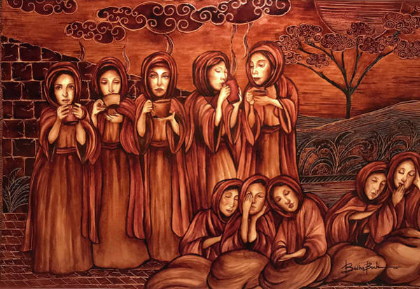 Wall Art - Painting - The Parable Of The Ten Virgins by Lilibeth Kindle