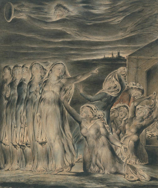 Painting - The Parable Of The Wise And Foolish Virgins by William Blake